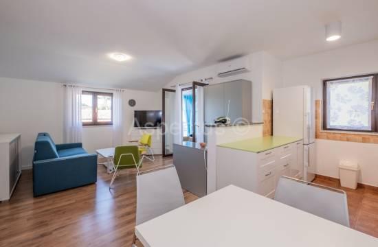 Wohnung befindet sich im 1. Stock, ein Schlafzimmer, möbliert, Poreč