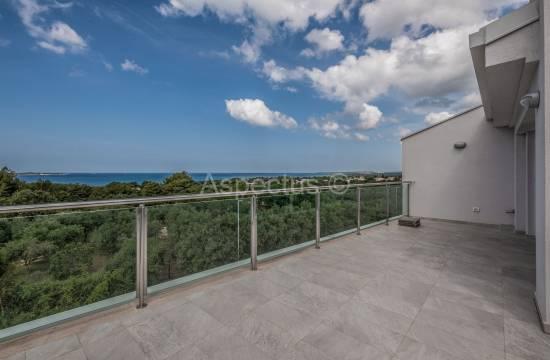 Three bedroom apartment 109,51m2, sea view, Peroj