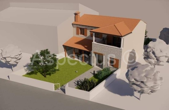 House under construction in Istrian style, Vodnjan