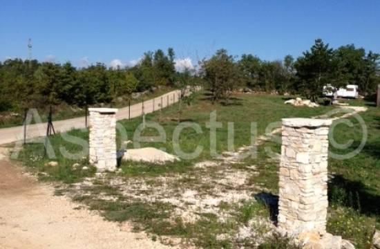 Istrien,umgebung Barban 6382m grundstück mit baugenehmigung