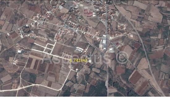 Vodnjan,građevinsko zemljište sa pogledom na more 1741m2